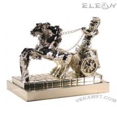 Сребърна фигурка РИМСКА КОЛЕСНИЦА голяма - 15х12см