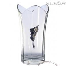 Стъклена Ваза Bohemia със сребро - 5022