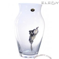 Стъклена Ваза Bohemia със сребро - 5200