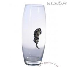 Стъклена Ваза Bohemia със сребро - 6011