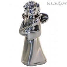 Сребърна фигурка АНГЕЛ с цвете - 7 см