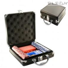 Покер сет в черно алуминиево куфарче, 100 чипа casino size, 8605020