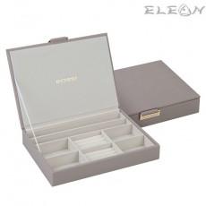 Кутия за бижута сива