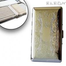 Дамска Табакера с огледалце, цигари 120мм, цвят сребро, 10бр*SLIM цигари, ZP006334