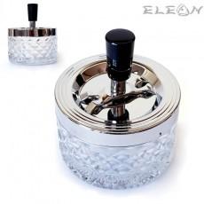 Пепелник вятъроустойчив, d 9см, h 11см, стъклен настолен пепелник 022327