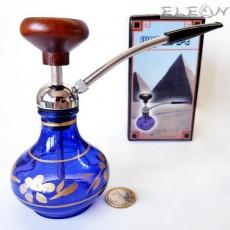 Лула с воден филтър - наргиле тип лула, син цвят, 15см