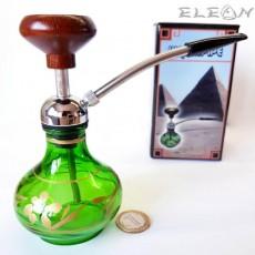 Лула с воден филтър - наргиле тип лула, зелен цвят, 15см