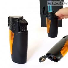 Запалка за пура с троен JET пламък, вграден пънчер, черно и оранж, Hadson ZP103770