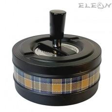 Пепелник Ветроустойчив, голям, Ø110мм, с бутон, черен, Primus 022386