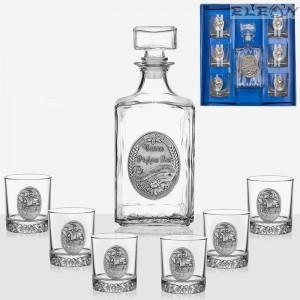 подарък Комплект за уиски от 7 части
