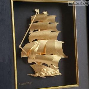 подарък Златна картина Кораб
