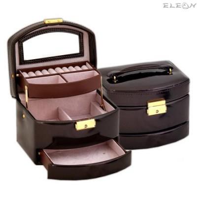подарък Кутия за бижута - Brown JA1415, средна, 16х14х13см DM-JA1415