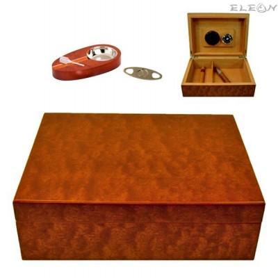 подарък Хумидор сет 6 части, подаръчен комплект аксесоари за пури, Angelo 920600 AK 920600