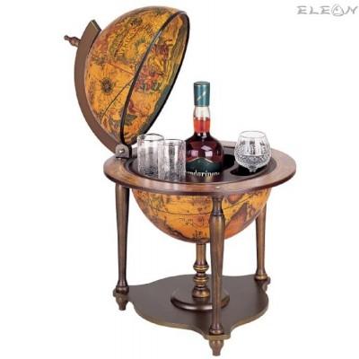 подарък Луксозен Бар глобус за офис, с отваряем капак