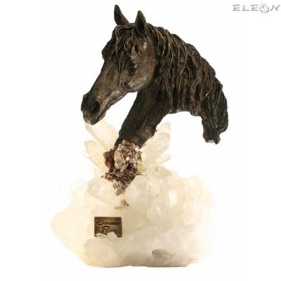 подарък статуетка КОН изработена от бронз - 576917