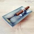 Пепелник за пури, единичен, сив, метален пепелник