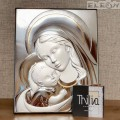 Икона Мадоната с младенеца, сребърна икона