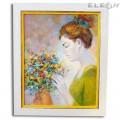 Картина за Стена Жена с Цветя