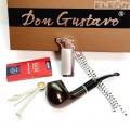 Изискан подаръчен комплект 5 части - лула, запалка, почистващ уред, тъпкачка, филтри - DonGustavo 030342