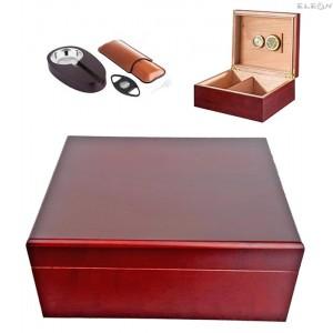 подарък Хумидор - кутия за пури с аксесоари, сет 7 части, подаръчен комплект, Angelo 920290 AK 920290