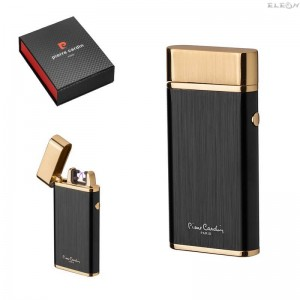Промоция Плазмена запалка с USB зареждане, златно и черно, Pierre Cardin MF012GB